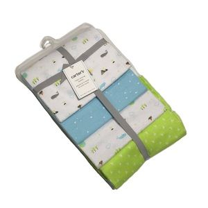 NWT Carter's 4 Pack 100% Cotton Receiving Blankets